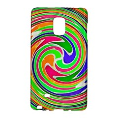 Colorful Whirlpool Watercolors                                                			samsung Galaxy Note Edge Hardshell Case by LalyLauraFLM