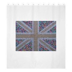 Multicoloured Union Jack Shower Curtain 66  X 72  (large)  by cocksoupart