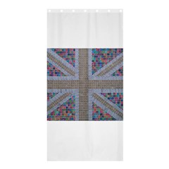 Multicoloured Union Jack Shower Curtain 36  X 72  (stall)  by cocksoupart