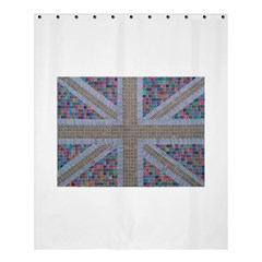 Multicoloured Union Jack Shower Curtain 60  X 72  (medium)  by cocksoupart