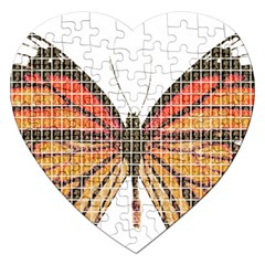 Butterfly Jigsaw Puzzle (heart) by cocksoupart