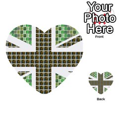 Green Flag Multi Purpose Cards (heart)  by cocksoupart