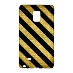 Stripes3 Black Marble & Gold Brushed Metal (r) Samsung Galaxy Note Edge Hardshell Case by trendistuff