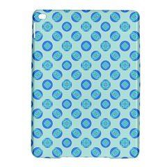 Pastel Turquoise Blue Retro Circles Ipad Air 2 Hardshell Cases by BrightVibesDesign