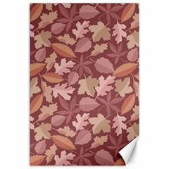 Marsala Leaves Pattern Canvas 24  X 36  by sifis