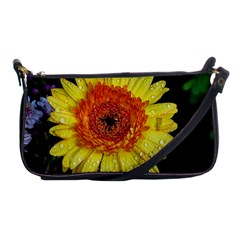 Yellow Flower Close Up Shoulder Clutch Bags by MichaelMoriartyPhotography