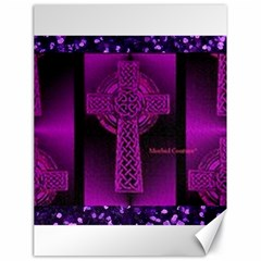 Purple Celtic Cross Canvas 18  X 24   by morbidcouture