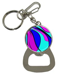 Purple And Blue Bottle Opener Key Chains by Valentinaart