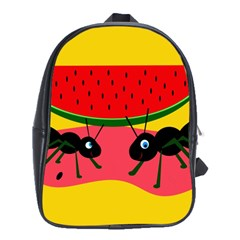 Ants And Watermelon  School Bags (xl)  by Valentinaart
