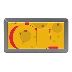 Yellow Abstract Sky Memory Card Reader (mini) by Valentinaart
