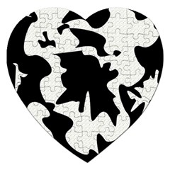 Black And White Elegant Design Jigsaw Puzzle (heart) by Valentinaart