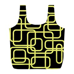 Yellow And Black Decorative Design Full Print Recycle Bags (l)  by Valentinaart