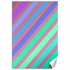 Pastel colorful lines Canvas 20  x 30   by Valentinaart