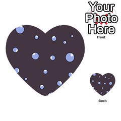 Blue Bubbles Multi Purpose Cards (heart)  by Valentinaart