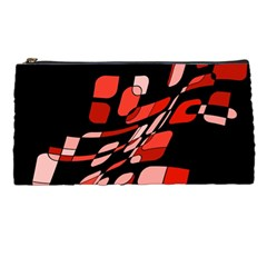 Orange Abstraction Pencil Cases by Valentinaart