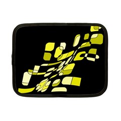 Yellow abstraction Netbook Case (Small)  by Valentinaart
