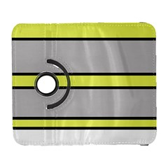 Yellow And Gray Lines Samsung Galaxy S  Iii Flip 360 Case by Valentinaart