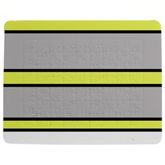 Yellow And Gray Lines Jigsaw Puzzle Photo Stand (rectangular) by Valentinaart