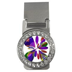 Colorful abstract flower Money Clips (CZ)  by Valentinaart