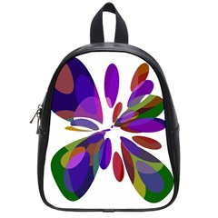 Colorful Abstract Flower School Bags (small)  by Valentinaart
