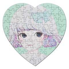 Spring Mint! Jigsaw Puzzle (heart) by kaoruhasegawa