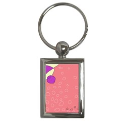 Pink Abstraction Key Chains (rectangle)  by Valentinaart