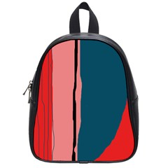 Decorative Lines School Bags (small)  by Valentinaart