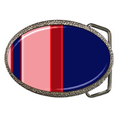 Pink And Blue Lines Belt Buckles by Valentinaart