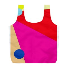Colorful Abstraction Full Print Recycle Bags (l)  by Valentinaart