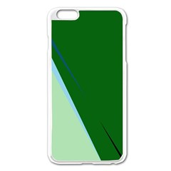 Green Design Apple Iphone 6 Plus/6s Plus Enamel White Case by Valentinaart