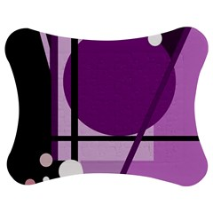 Purple Geometrical Abstraction Jigsaw Puzzle Photo Stand (bow) by Valentinaart