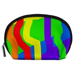 Rainbow Abstraction Accessory Pouches (large)  by Valentinaart