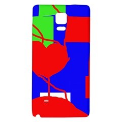 Abstract Hart Galaxy Note 4 Back Case by Valentinaart