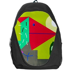 Abstract Bird Backpack Bag by Valentinaart