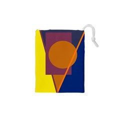 Geometric abstract desing Drawstring Pouches (XS)  by Valentinaart