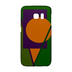 Green and orange geometric design Galaxy S6 Edge by Valentinaart