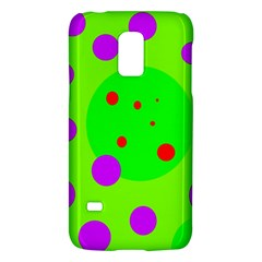 Green And Purple Dots Galaxy S5 Mini by Valentinaart