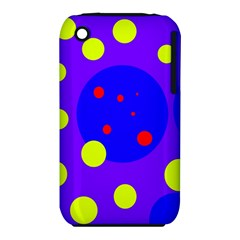 Purple and yellow dots Apple iPhone 3G/3GS Hardshell Case (PC+Silicone) by Valentinaart
