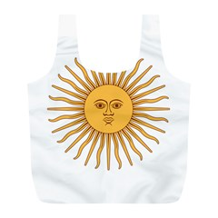 Argentina Sun Of May  Full Print Recycle Bags (l)  by abbeyz71