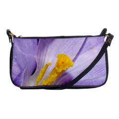Purple Crocus Shoulder Clutch Bags by PhotoThisxyz