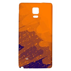 Orange And Blue Artistic Pattern Galaxy Note 4 Back Case by Valentinaart