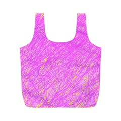 Pink Pattern Full Print Recycle Bags (m)  by Valentinaart
