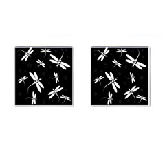 Dragonflies pattern Cufflinks (Square) by Valentinaart