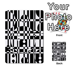 Black And White Pattern Multi Purpose Cards (rectangle)  by Valentinaart