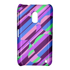 Pink, purple and green pattern Nokia Lumia 620 by Valentinaart