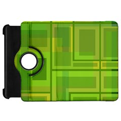 Green Pattern Kindle Fire Hd Flip 360 Case by Valentinaart