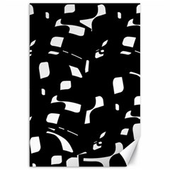Black and white pattern Canvas 20  x 30   by Valentinaart