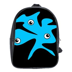 Blue Amoeba School Bags (xl)  by Valentinaart