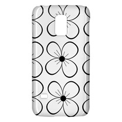 White Flowers Pattern Galaxy S5 Mini by Valentinaart
