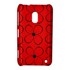 Red Floral Pattern Nokia Lumia 620 by Valentinaart